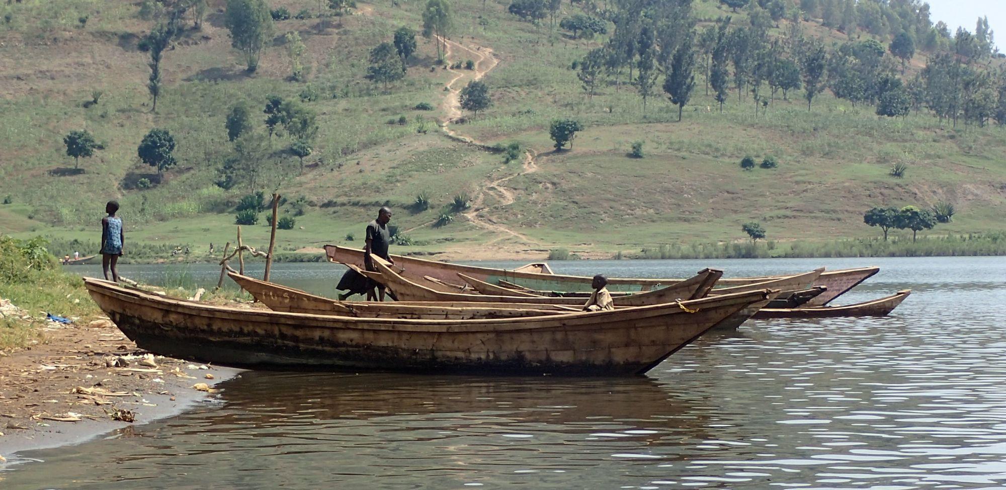 Fishermen's Boats on Lake Kivu